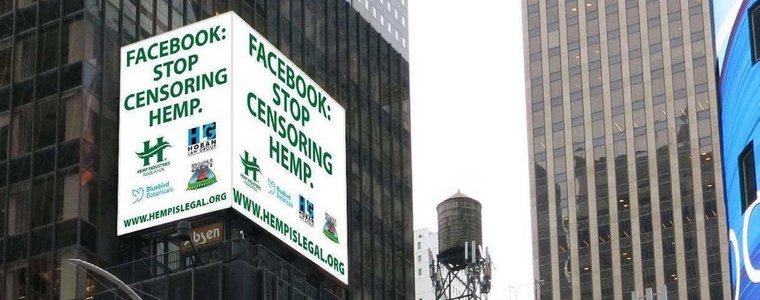 """Akcja """"Konopie są legalne"""" rzuca wyzwanie Facebookowi"""