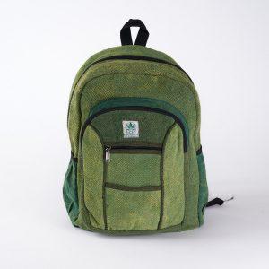 Plecak z konopi zielony duży