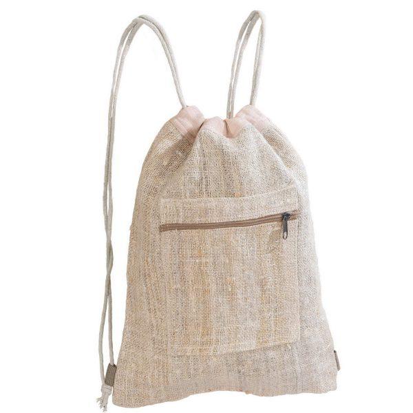 Plecak z konopi typu worek