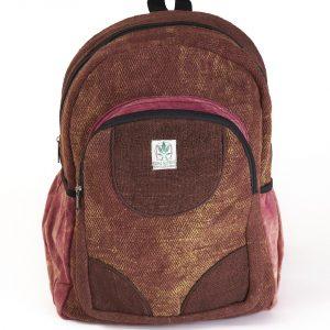 Plecak z konopi bordowy przecierany